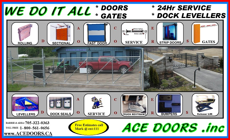 We Do It All sales servive install 24hr. Barrie On Canada  sc 1 th 175 & Ace Doors Sales u0026 Service. Gates Doors Docks ONT CANADA.